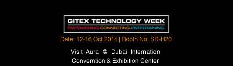 Aura exhibits at GITEX 2014, Dubai